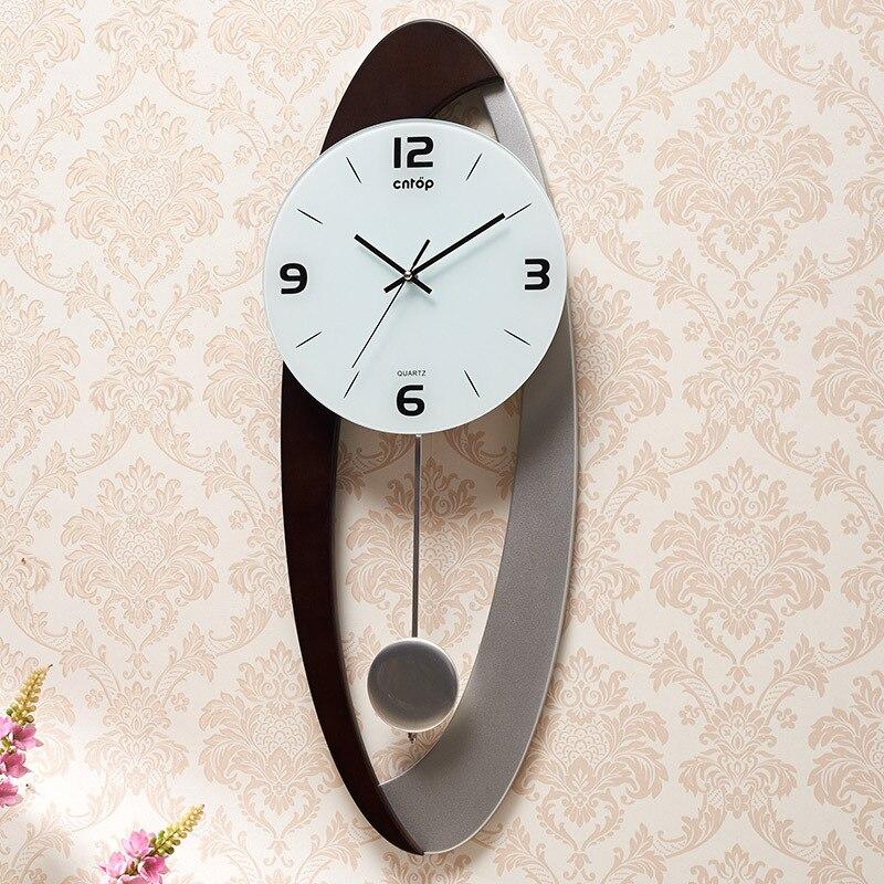 Haute qualité créative pendule horloge brève mode 3D décorations murales salon mur montre horloges murales décor à la maison livraison directe