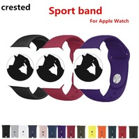 CRESTED Sport band For Apple Watch 3 42mm/38mm sil ...