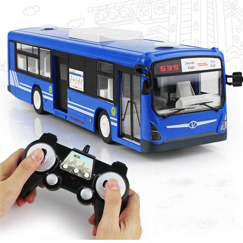 Simulation à distance 2.4G télécommande Bus voiture charge électrique porte ouverte RC modèle jouets pour enfants anniversaire vacances cadeaux