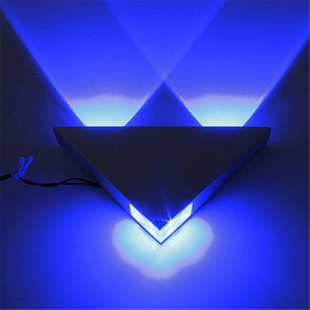 Modern led wall lamp 3w aluminum body triangle wall light for modern led wall lamp 3w aluminum body triangle wall light for bedroom home lighting luminaire bathroom light fixture wall sconce in led indoor wall lamps aloadofball Choice Image