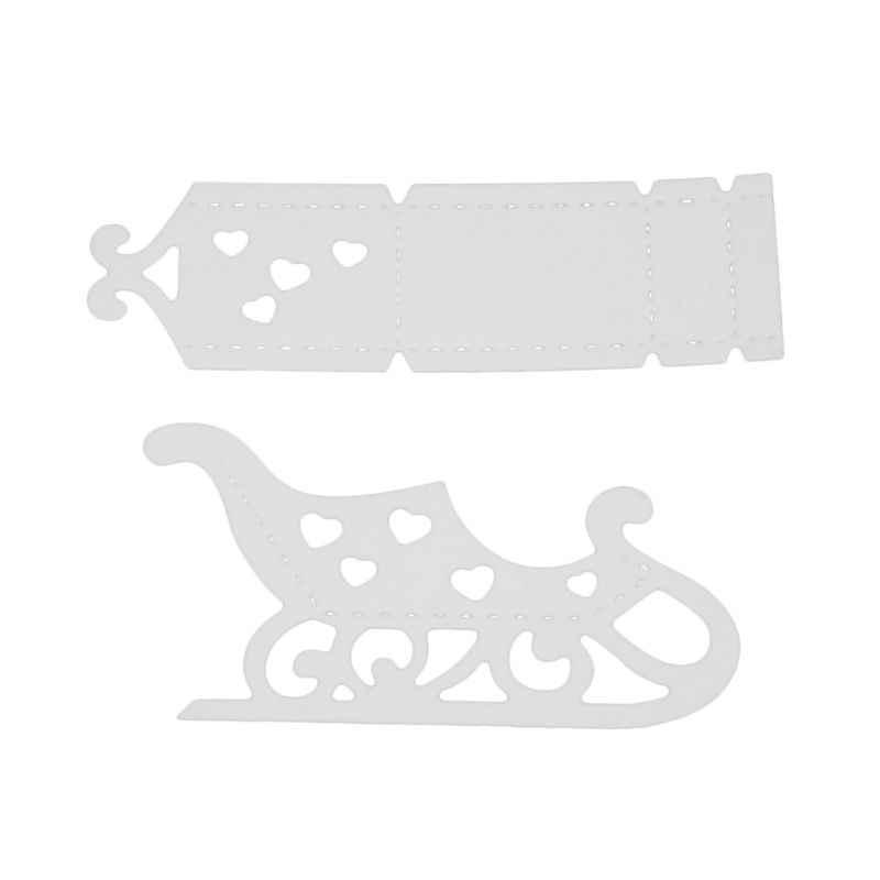 חג המולד מזחלת מתכת חיתוך מת סטנסיל DIY רעיונות גלרית חותמת נייר כרטיס הבלטות קרפט דקור W229
