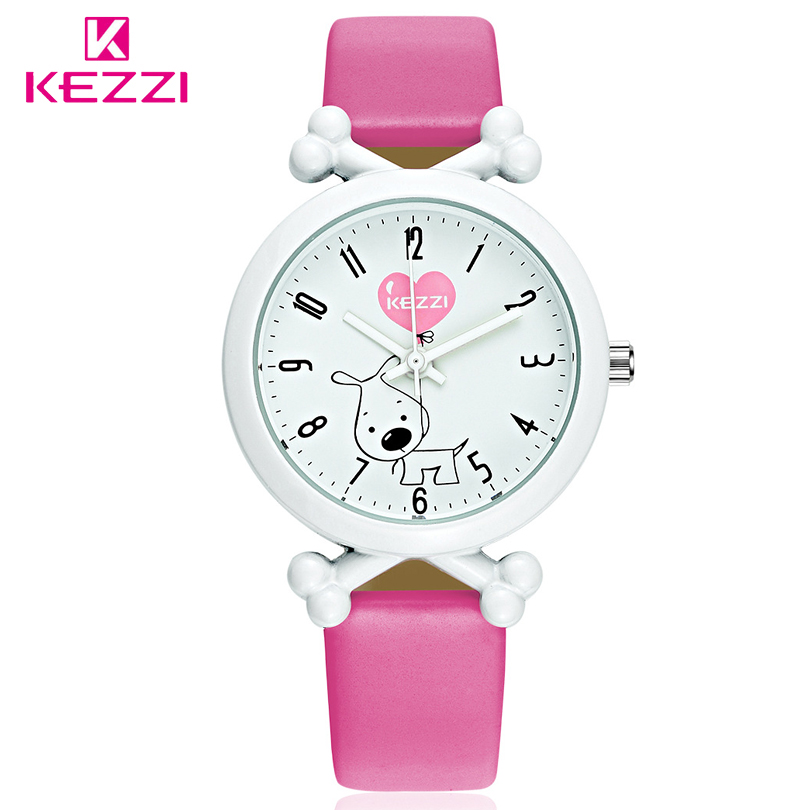 KEZZI Brand New Arrival Cute Cartoon Dog Waterproof Kids Watch Funny Bone Dial Watch Leather Strap Import Movement Watches 2016 new luxury brand kezzi waterproof