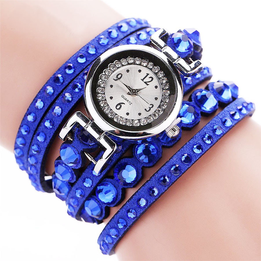 2018 New Fashion CCQ Women Fashion Casual Analog Quartz Women Rhinestone Watch Bracelet Watch Classics Gifts pearl bracelet