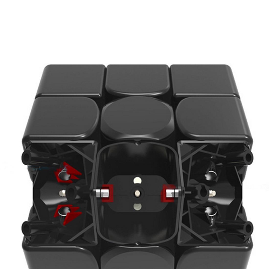 UTOYSLAND 60 pièces GAN356 Air SM Version magnétique Speedcubing 3x3 Cube magique pour compétition-noir - 2