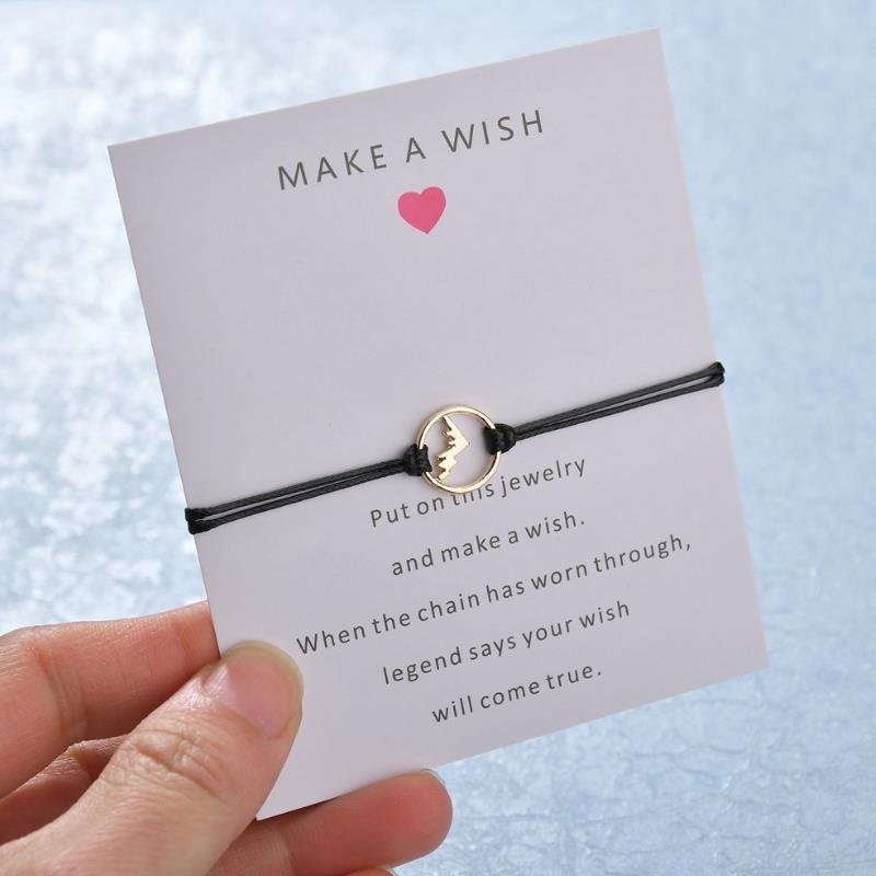 7 Amazing Colours For A Statement Wall With Wow: 2019 NEW Make A Wish Card Statement Bracelet Simple