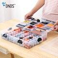BNBS  вместительный ящик для хранения блоков для строительства игрушек ЛЕГО  для детей  прозрачная пластиковая коробка-органайзер  регулируе...