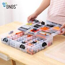BNBS Bouwstenen Lego Speelgoed Grote Capaciteit Hand Kinderen Storage Case Clear Plastic Organizer Box Kan De Opslagruimte