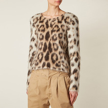 GLOSVDE Leopard Sweater jumpers pull femme Women o-neck long sleeve Pullovers