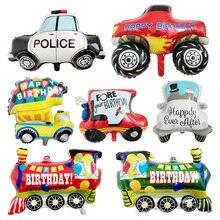 1PC dekory diy kreskówka samochód balony samochód pociąg balon foliowy dzieci prezenty dekoracje na imprezę urodzinową dzieci piłki
