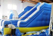 3 year warranty High quality customized summer water slide inflatable water slide with stairs for children