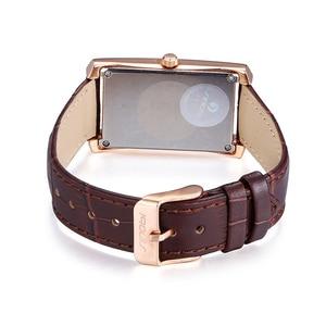 Image 5 - SINOBI eleganckie damskie prostokątne zegarki trwałe skórzane Watchband Top luksusowa marka panie genewa zegar kwarcowy kobiet prezent