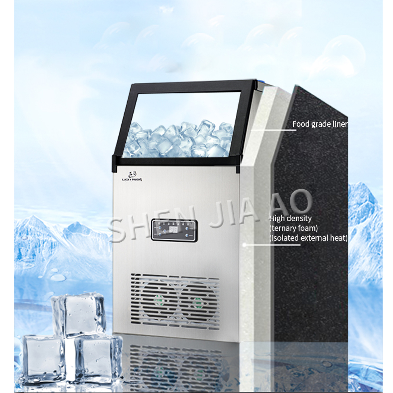 70KG/days 110 220V Ice machine commercial ICE MAKER small tea shop/bar/large capacity household/automatic ice making machine 1pc - 6