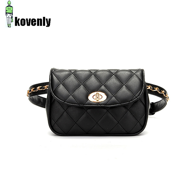 Women Waist Bag Pu Leather Fanny Pack Fashion Zipper Shoulder Chest Bag Female Plaid Jeans Belt Bags Travel Phone Hip Pouch 05