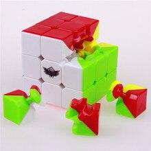 Циклон мальчики stickerless скорость магический куб твист cubo magico профессиональные головоломки классические развивающие игрушки для детей kid подарков