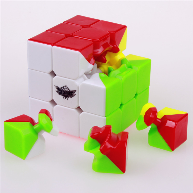 3x3x3 Cyclone Stickerless Puzzle Magic Speed Cubes Boys Professional cube 3 on 3 Educational funny cube Toys for children