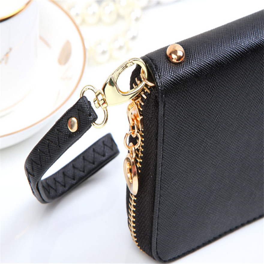 New Hot Women Korean Cute Bowknot Purse Solid Wearable Wallet Handbag Brand New High Quality ID card Cash Wallet Coin Phone BagS
