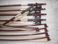 10 PCs Quality Brazil Wood Violin bow 4/4 white bow hair abalone shell