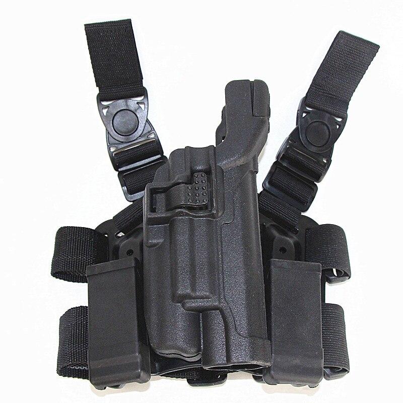 Étui de jambe de chasse de niveau 3 étui de pistolet Airsoft Colt 1911 léger portant étui tactique de cuisse de jambe avec pochette de Magazine