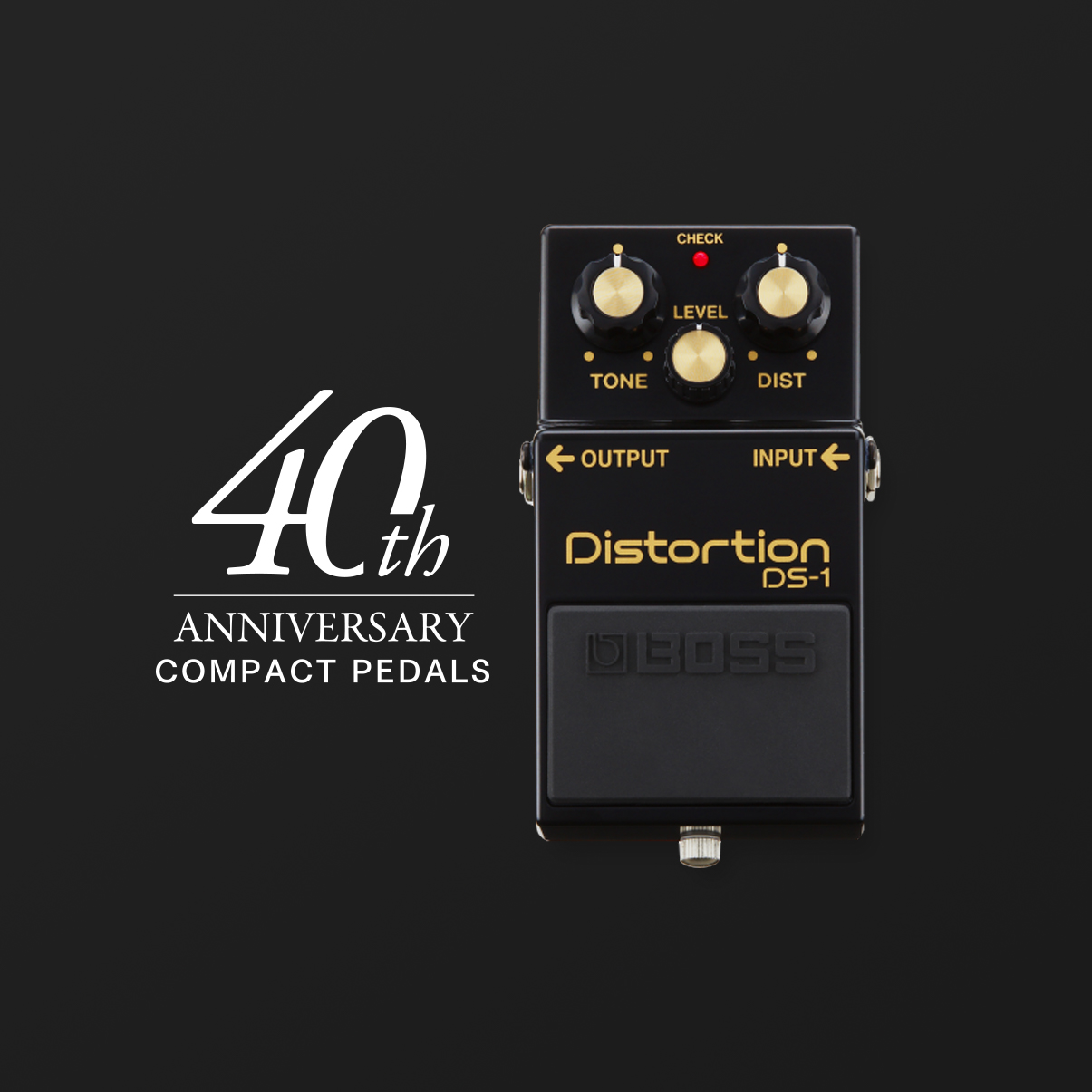BOSS DS-1 Distortion Guitar Pedal, Black, 40th Anniversary Limited Edition boss ds 1