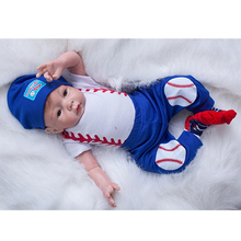 The Latest Baseball Boy Reborn Doll 20 Inch Newborn Alive Babies Real Touch Dolls Toy With Rooted Mohair Kids Birthday Gift