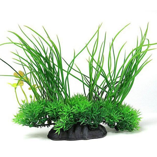 Plastic Artificial Grass Plant Aquarium Fish Tank Decor Aquatic