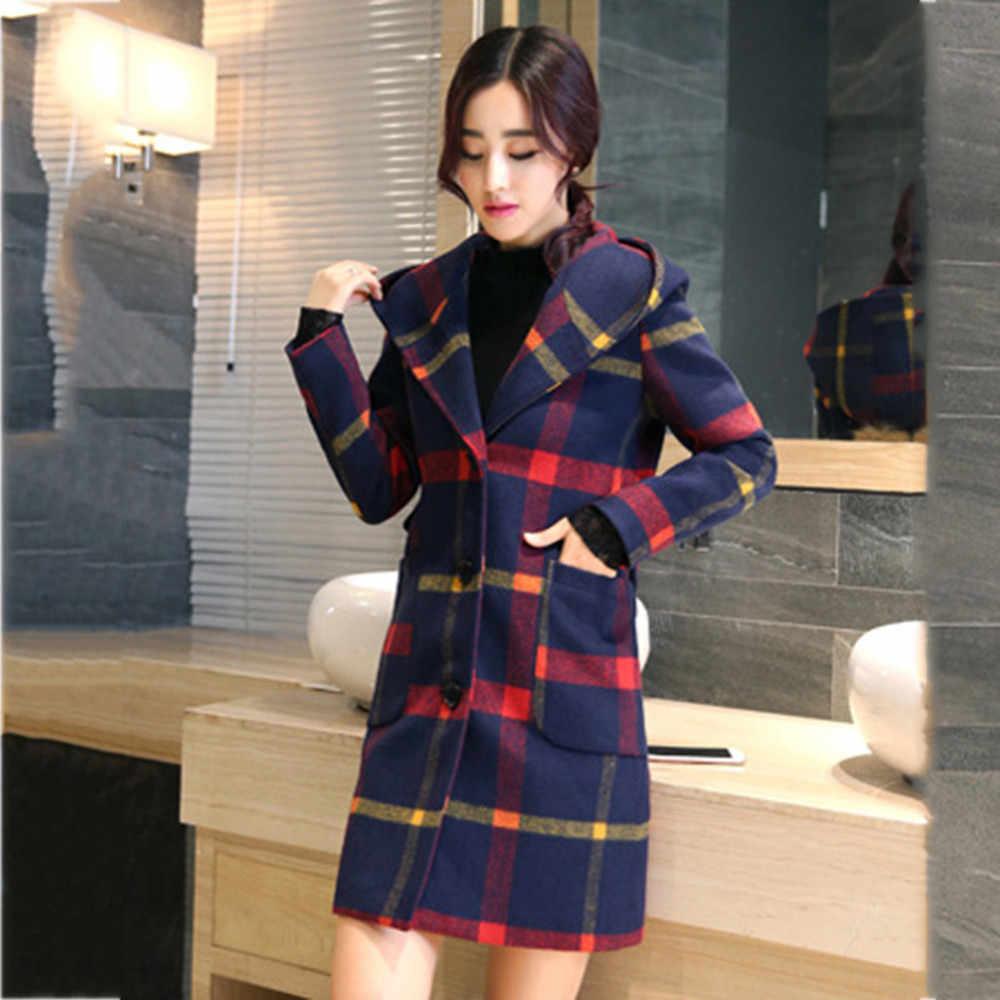 Feitong 2019 mode Winter Jas Vrouwen Brede Jas Oversized Lange Rode Geul elegante Jas Uitloper Jas casaco feminino tops