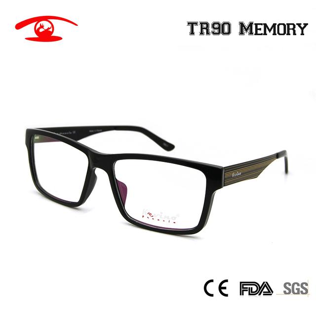 2016 New TR90 Óculos de Armação Branca Preto Dos Homens Das Mulheres Óculos de Lentes de Óculos Óptica Óculos de Aro Cheio de Prescrição Do Vintage