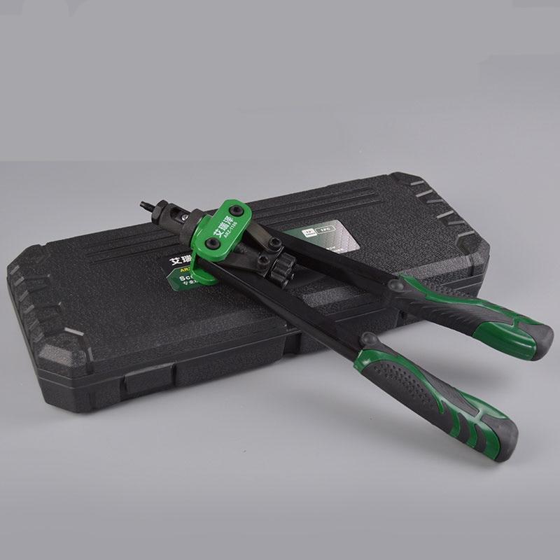 free-shipping-14-blind-rivet-nut-gun-heavy-hand-inser-nut-tool-manual-mandrels-m3-m4-m5-m6-m8-m10-with-a-luxury-box-rivnut-gun