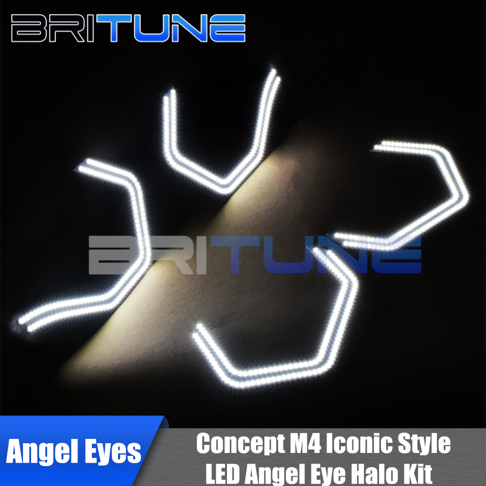 Concept M4 Iconic Style SMD LED Xenon White Angel Eyes For BMW 2 3 4 5 Series E90 E91 E92 E93 F30 M3 M5 Cars Headlight Tuning цены