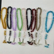 Tasuta kohaletoimetamise tehas otse müüa islami moslemi palve helmed 10tk / Lot / 33pcs / kiht klaas kristall K5 Tasbih palve bead