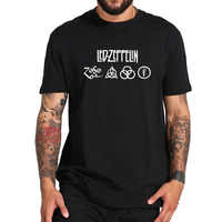 Led Zeppelin Tshirt Runes All 4 Design Heavy Metal Rock Band T Shirt Breathable Crewneck EU Size 100% Cotton Tee Tops