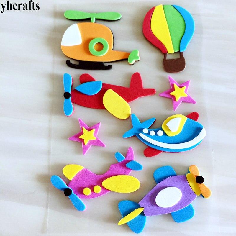 1 пакетов/лот, животные Санта Рождество автомобиль цветок Русалка Принцесса динозавр рыба Сова 3D наклейки из пены декоративные элементы diy игрушки подарки - Цвет: 1 sheet G design