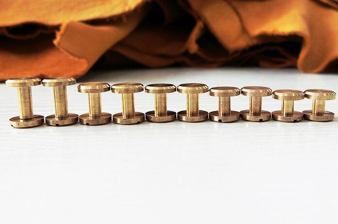 Livrare gratuită 5 seturi 10 * 20mm șurub din alamă pură, șurub - Arte, meșteșuguri și cusut - Fotografie 2