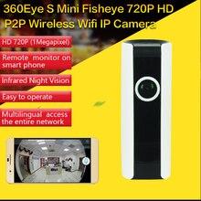 CCTV IR Wifi 720P IP Camera Panoramic Fisheye Lens 180 Degrees Wireless Network Security Camera Night Vision with Speaker