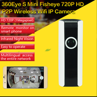 CCTV IR Wifi 720P IP Camera Panoramic Fisheye Lens 180 Degrees Wireless Network Security Camera