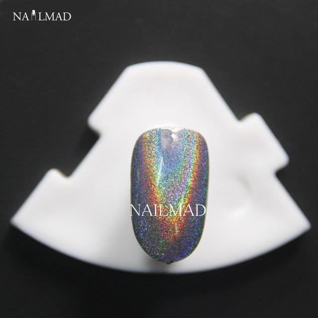 1 g/caja Polvo de Pigmento de Mica En Polvo Polvo de Unicornio Holograma Arco Iris Arco Iris Holográfica Holográfica Duochrome de Pigmento en polvo