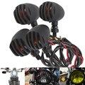 4 unids bala luz universal de la motocicleta señal de vuelta luz indicadora para harley yamaha honda kawasaki cruiser chopper cafe racer