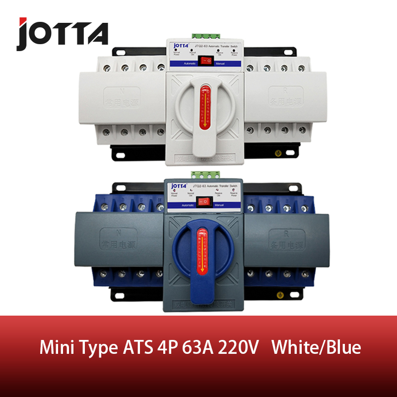 JOTTA 4P 63A 380V ATS MCB type Dual Power Automatic Transfer Switch Change Over SwitchJOTTA 4P 63A 380V ATS MCB type Dual Power Automatic Transfer Switch Change Over Switch