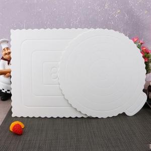 5 uds., 8 pulgadas, tablas para tortas blancas, decoración de galletas, bandeja inferior para exhibición de postres, pastel, almohadilla de papel duro, decoración de tarta de cumpleaños boda