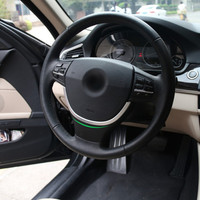DWCX car styling Chrome Steering Wheel Cover Trim U shape For BMW 5 Series F10 520i 528i 535i F07 535GT 2011 2012 2013 +
