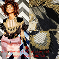 2017 New  Embroidery Beaded Sequin Crop Top Sexy Celebrity Runway Winter Handmade Embroidery Outfit Baroque Vintage Fringe Top