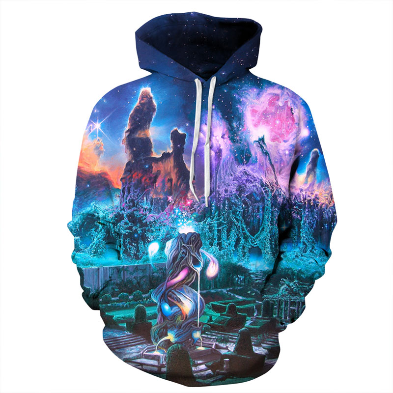 Mr 1991INC New Stylish Thin Sweatshirts Men Women 3d Hoodies Digital Print Dreamy Cemetery Unisex Hooded