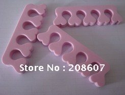 Free shipping Soft Toe spacer Finger Separator Nail Art Manicure Pedicure Tool