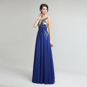 Image 4 - אורך קיר אלגנטי פורמליות ערב שמלות שיפון ארוך מפלגת שמלות עם אפליקציות נצנצים מכירה לוהטת SD159