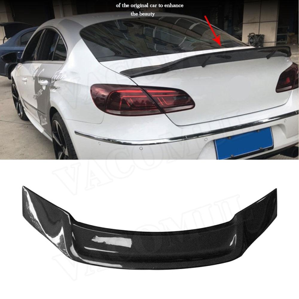 Carbon fiber rear roof spoiler lip wings for Volkswagen VW Passat CC Sandard 2009-2018 R Style система освещения led2del volkswagen cc vw passat 2009 ems dhl