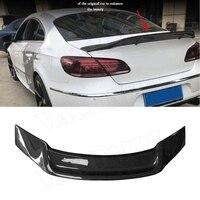For CC Carbon fiber Rear spoiler for Volkswagen VW Passat CC Sandard 2009 2016 R Style Trunk Boot Duck Wings