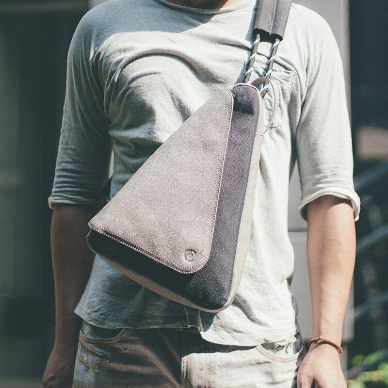 D-парк Многофункциональный Для мужчин груди мешок холст сумка моды Повседневное сумка-мессенджер сумка Кроссбоди сумки мужской