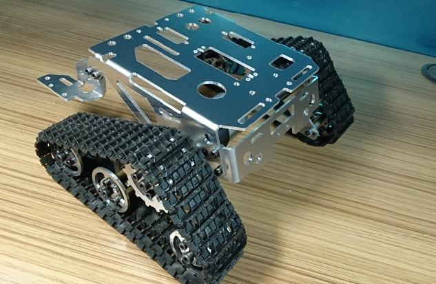 DIY Alloy Tank Chassis tracked car for remote control robot parts for