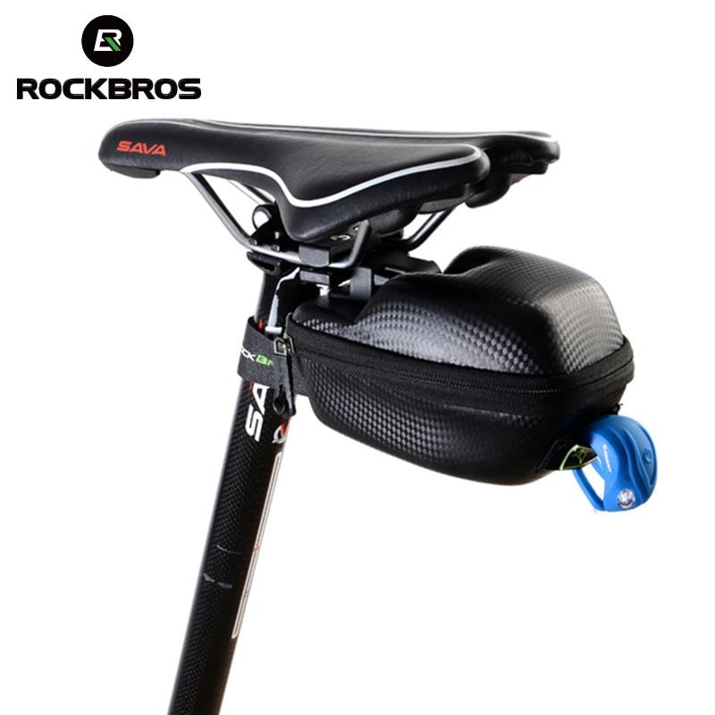ROCKBROS Road Bike Black Saddle Bag MTB Seatpost Bag Waterproof Saddle Bag