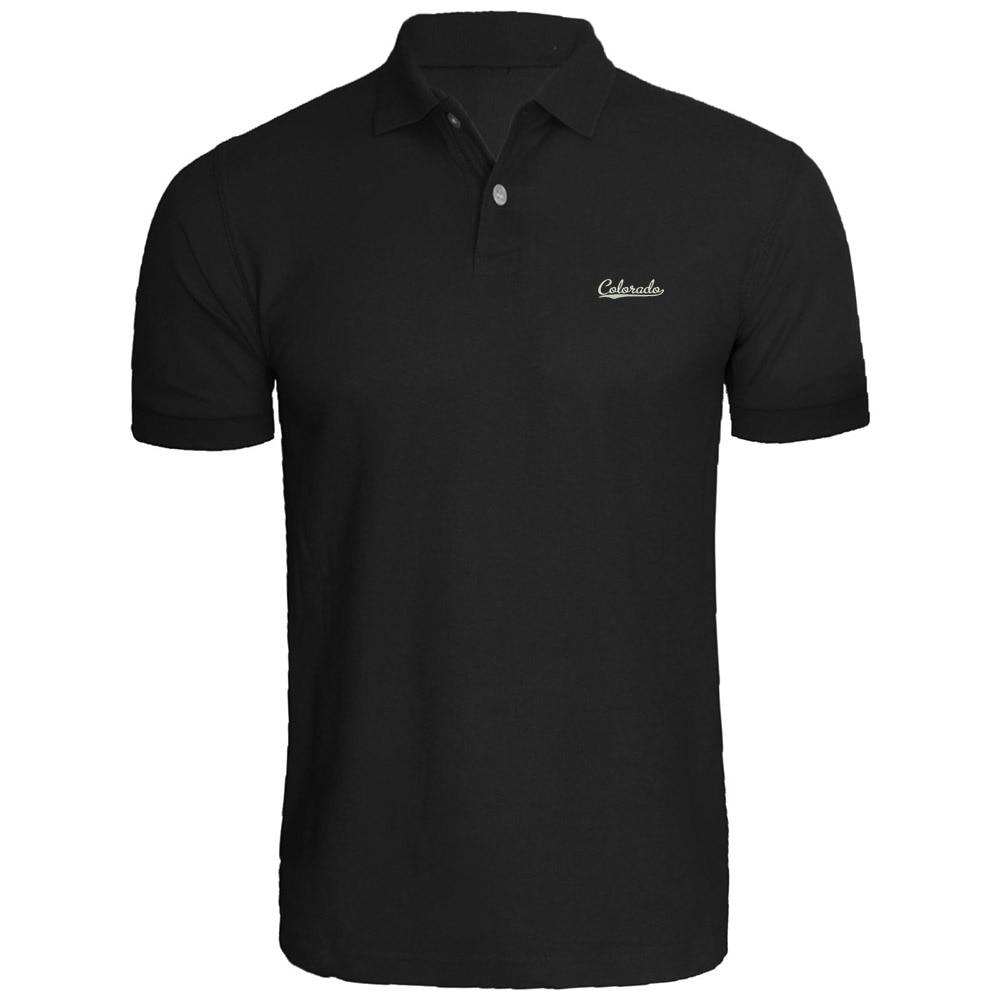 Mens Colorado Vector Design Embroidery Embroidered   Polo   Shirts